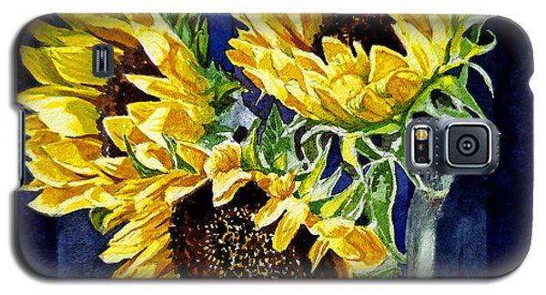 Three Sunny Flowers Galaxy S5 Case