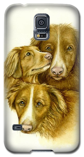 Three Toller Dogs Galaxy S5 Case by Nan Wright