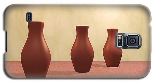 Galaxy S5 Case featuring the digital art Three Vases by Gabiw Art