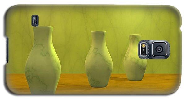 Galaxy S5 Case featuring the digital art Three Vases II by Gabiw Art