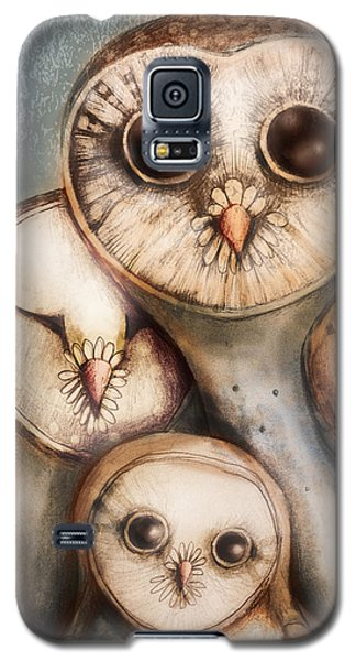 Owl Galaxy S5 Case - Three Wise Owls by Karin Taylor