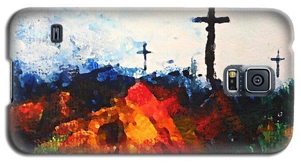 Three Wooden Crosses Galaxy S5 Case