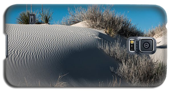 Galaxy S5 Case featuring the photograph Three Yuccas On The Dune by Sherry Davis