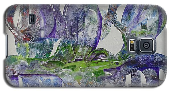 Galaxy S5 Case featuring the painting Threefold Cord by Nereida Rodriguez