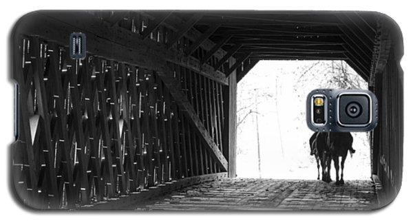Galaxy S5 Case featuring the photograph Through A Covered Bridge by Phil Abrams