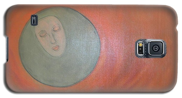 Galaxy S5 Case featuring the painting Through A Mirror Darkly by Sharyn Winters