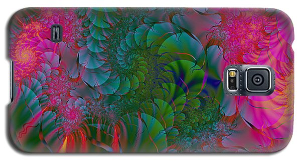 Galaxy S5 Case featuring the digital art Through The Electric Garden by Elizabeth McTaggart