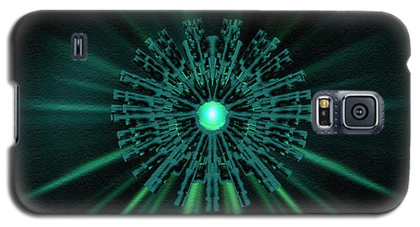 Galaxy S5 Case featuring the digital art Through The Emerald Eye by Charmaine Zoe