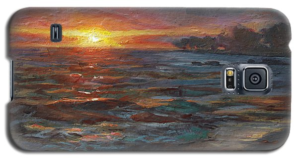 Through The Vog - Hawaii Beach Sunset Galaxy S5 Case