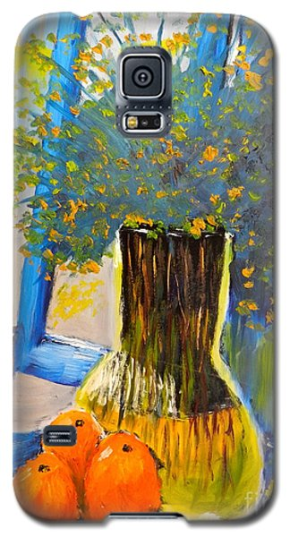 Galaxy S5 Case featuring the painting Through The Window by Pamela  Meredith