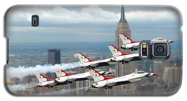 Thunderbirds Over New York City Galaxy S5 Case by U S A F