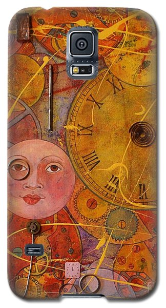 Galaxy S5 Case featuring the painting Tic Toc by Jane Chesnut