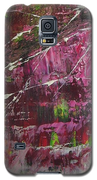 Galaxy S5 Case featuring the painting Tickled Pink by Lucy Matta