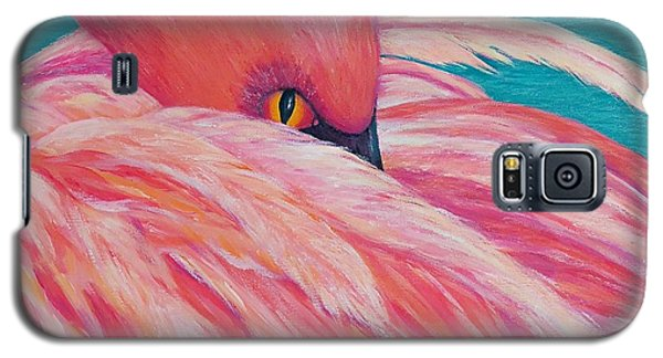 Galaxy S5 Case featuring the painting Tickled Pink by Susan DeLain