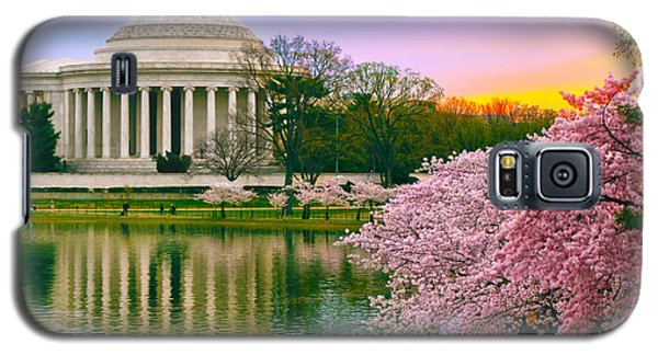 Tidal Basin Morning Galaxy S5 Case by Mitch Cat