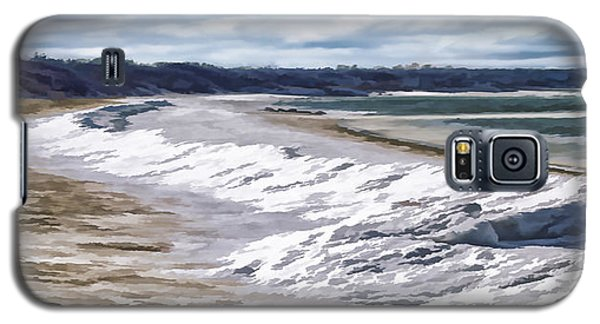 Galaxy S5 Case featuring the photograph Tide Line Ice Photo Art by Constantine Gregory