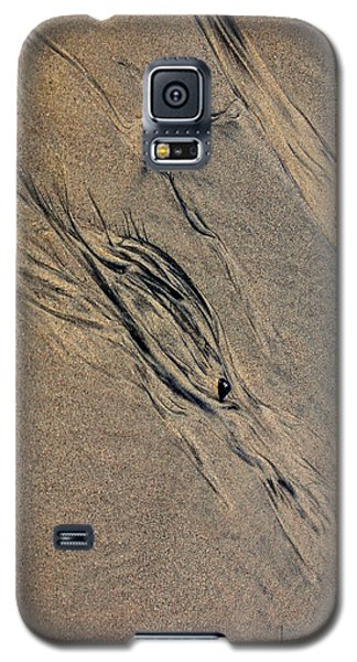 Galaxy S5 Case featuring the photograph Tide Tracks by Irma BACKELANT GALLERIES