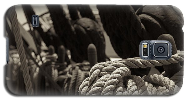 Tied Up Black And White Sepia Galaxy S5 Case