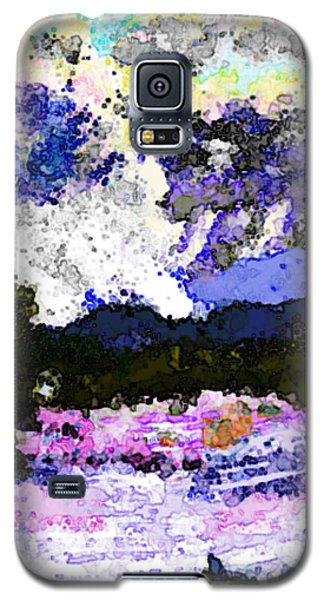 Galaxy S5 Case featuring the digital art Tierra Amarilla Storm Sketch I by Anastasia Savage Ealy