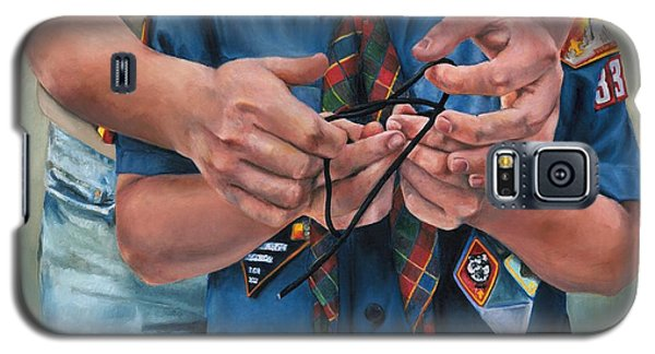 Galaxy S5 Case featuring the painting Ties That Bind by Lori Brackett