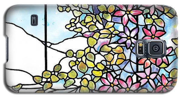 Stained Glass Tiffany Floral Skylight - Fenway Gate Galaxy S5 Case by Donna Walsh