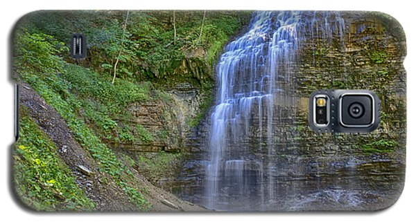 Galaxy S5 Case featuring the photograph Tiffany Falls In Summer by Gary Hall