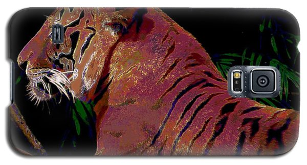 Galaxy S5 Case featuring the painting Tiger 2 by David Mckinney