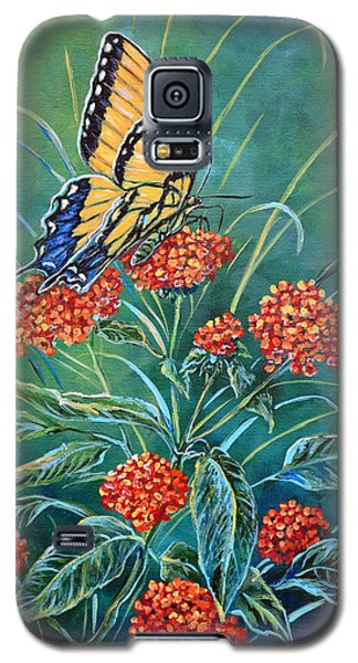 Tiger And Lantana Galaxy S5 Case