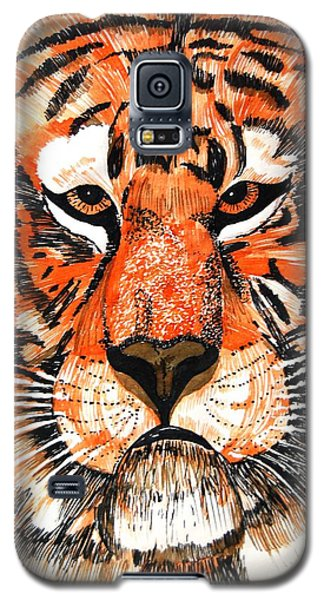 Tiger Galaxy S5 Case by Angela Murray