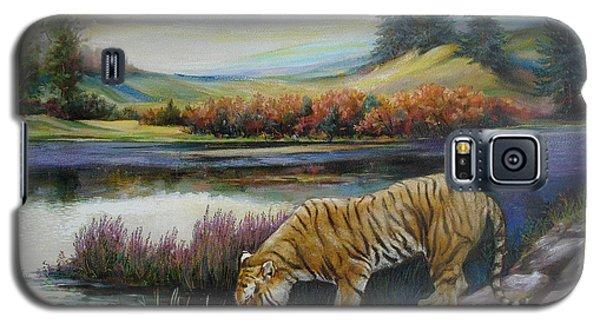 Tiger By The River Galaxy S5 Case by Svitozar Nenyuk