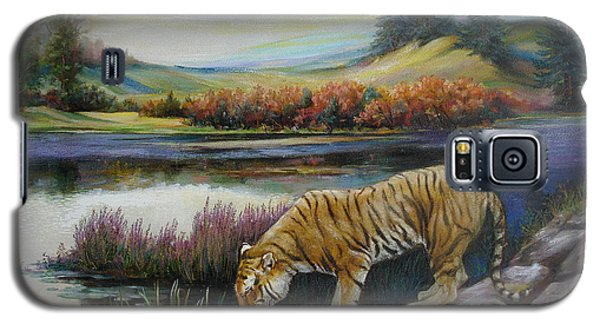 Tiger By The River Galaxy S5 Case