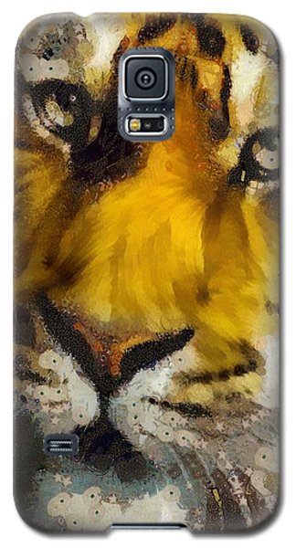Galaxy S5 Case featuring the painting Tiger by Catherine Lott