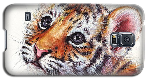 Tiger Cub Watercolor Painting Galaxy S5 Case