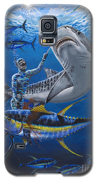 Tiger Encounter Galaxy S5 Case by Carey Chen
