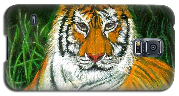 Galaxy S5 Case featuring the pastel Tiger Eyes - Pastel by Antonia Citrino