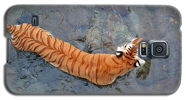 Galaxy S5 Case featuring the photograph Tiger In The Stream by Robert Meanor