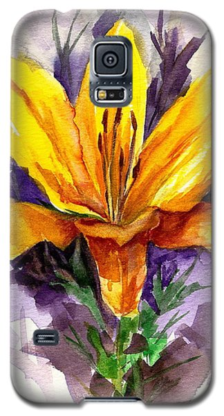 Galaxy S5 Case featuring the painting Tiger Lily by Ellen Canfield