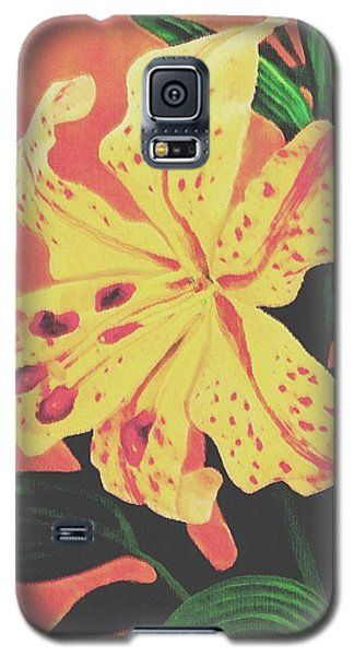 Galaxy S5 Case featuring the painting Tiger Lily by Sophia Schmierer