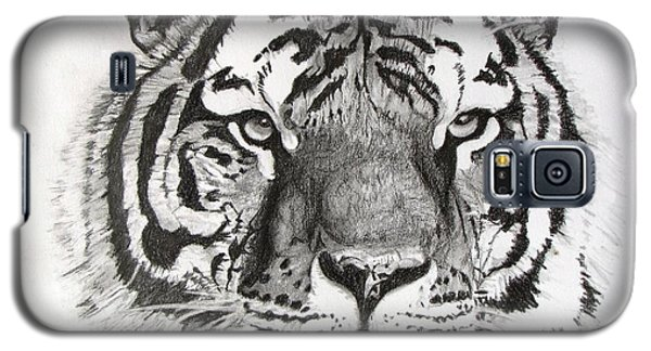 Tiger On Piece Of Paper Galaxy S5 Case by Kevin F Heuman