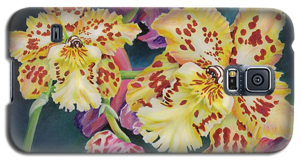Galaxy S5 Case featuring the painting Tiger Orchid by Jane Girardot