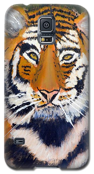 Galaxy S5 Case featuring the painting Tiger by Pamela  Meredith