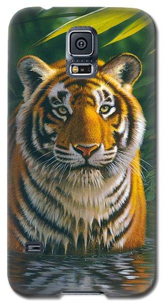 Tiger Pool Galaxy S5 Case by MGL Studio - Chris Hiett