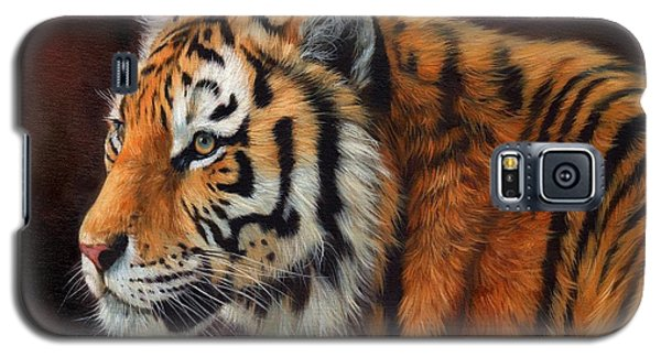 Tiger Portrait  Galaxy S5 Case by David Stribbling