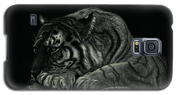 Tiger Power At Peace Galaxy S5 Case by Sandra LaFaut