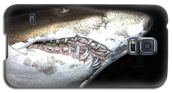 Galaxy S5 Case featuring the photograph Tiger Shark by Sergey Lukashin