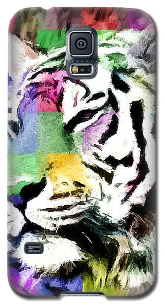 Galaxy S5 Case featuring the painting Tiger - Tigre by Ze  Di