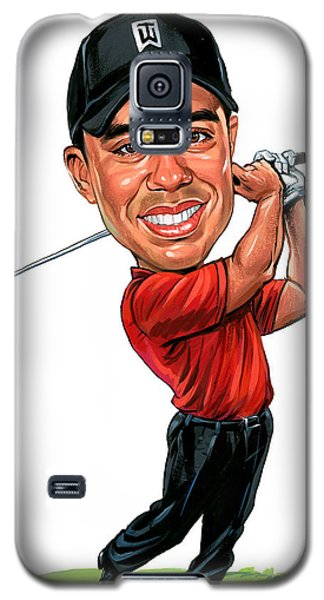 Tiger Woods Galaxy S5 Case by Art