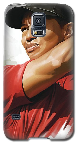 Tiger Woods Artwork Galaxy S5 Case by Sheraz A