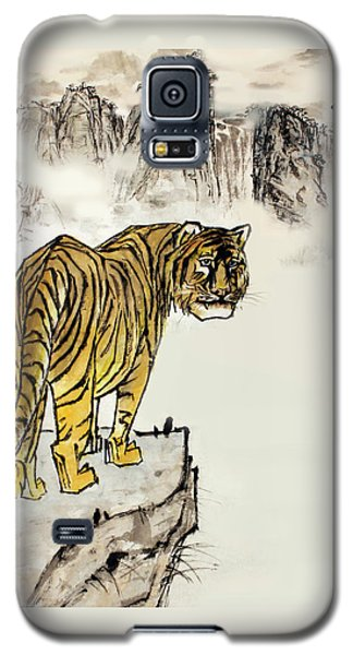Galaxy S5 Case featuring the painting Tiger by Yufeng Wang