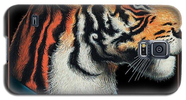 Galaxy S5 Case featuring the digital art Tigerman by Scott Ross